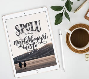 Online kurz Letteringu na iPadu v Procreate