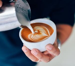Baristický kurz Latte art