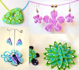 Kurz výroby šperků z hmoty FIMO - květinová louka
