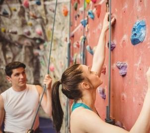 Kurz lezení na horolezecké stěně