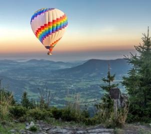 Kouzelný let balónem Beskydy