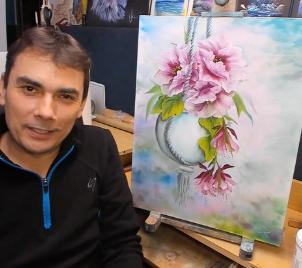 Online workshop malby Závěsná květina
