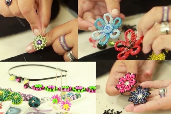 Kurz korálkování - výroba šitých šperků z korálků