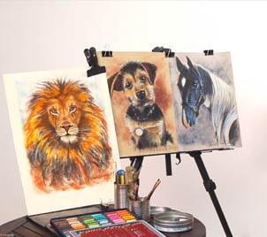 Kurz kreslení pravou mozkovou hemisférou 3 - kreslení zvířat pastelem